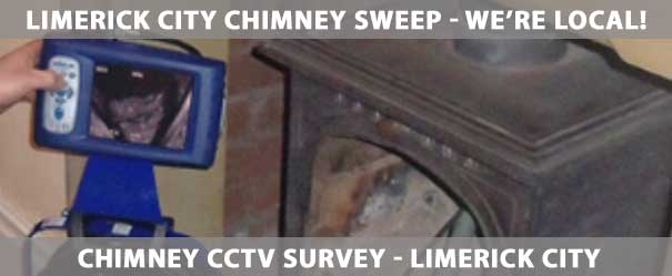 Chimney CCTV Survey Limerick City | Our chimney CCTV Survey is offered throughout Limerick City including Thomand, Caherdavin, Corbally, Raheen, Annacotty, Castletroy, Mungret and Clarina. | Ph: (085) 1840747